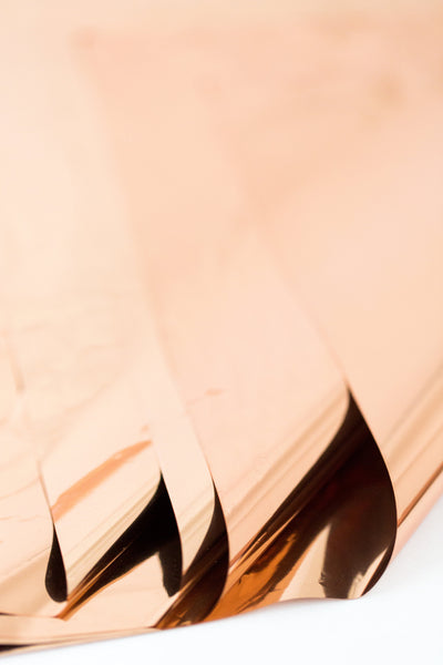rose gold mylar sheets - light copper mylar