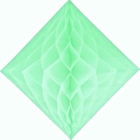 mint green diamond honeycomb decoration 12 inch