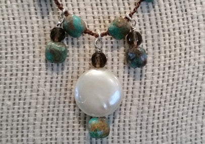 Turquoise & Coin Pearl