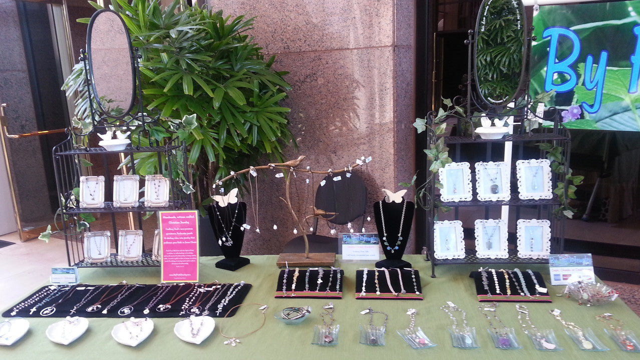 By Faith Jewelry display
