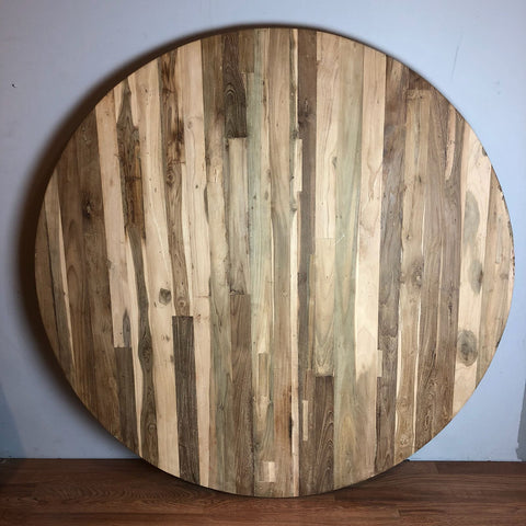 reclaimed round table top