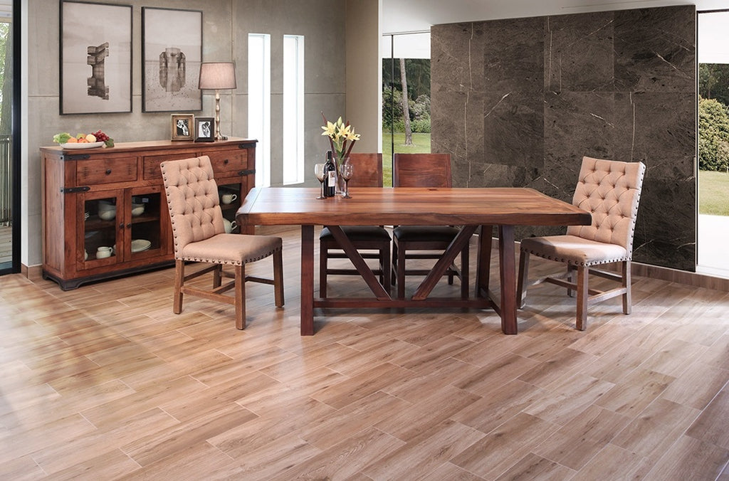artisan parota dining table farmhouse