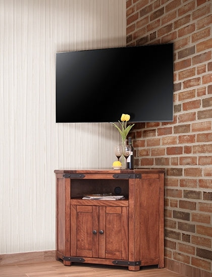 solid wood corner tv stand