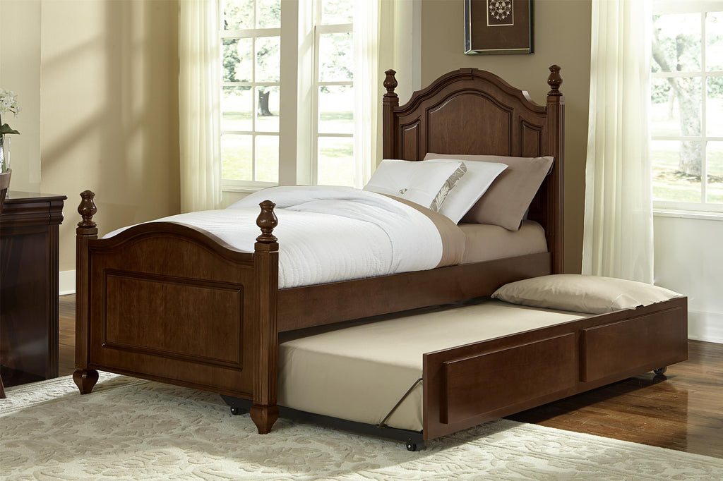 Vaughan Bassett French Market Twin Poster Bed Cherry Trundle