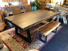 Live edge Spanish walnut dining table