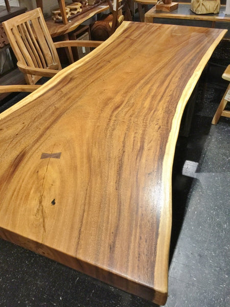 Live Edge Acacia Wood Slab Dining Table R Home Furniture