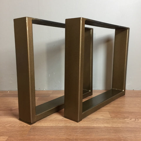 Rectangular Metal Legs in Antique Brass