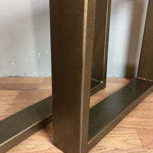 "Rectangular Metal Base - Antique Brass with 1""x3"" tubing"