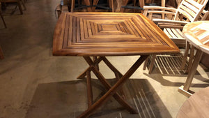 "Teak Wood Folding Table for Garden and Patio 35"" x 34"""