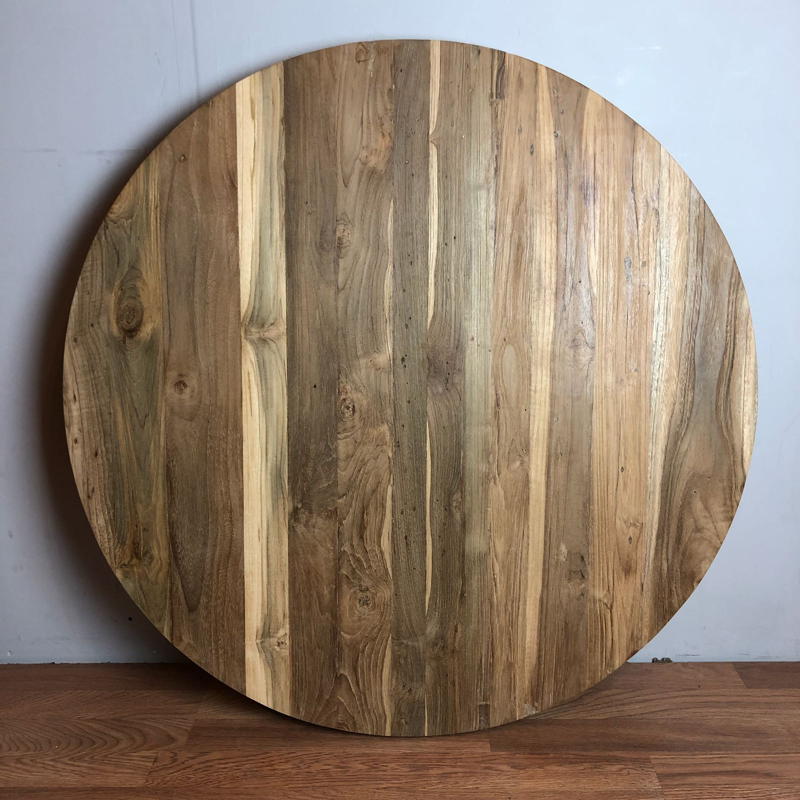 Reclaimed teak wood round table top 36