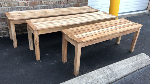 Teak Wood Outdoor Bench 47