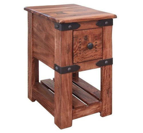 Modern industrial side table 15 x 18