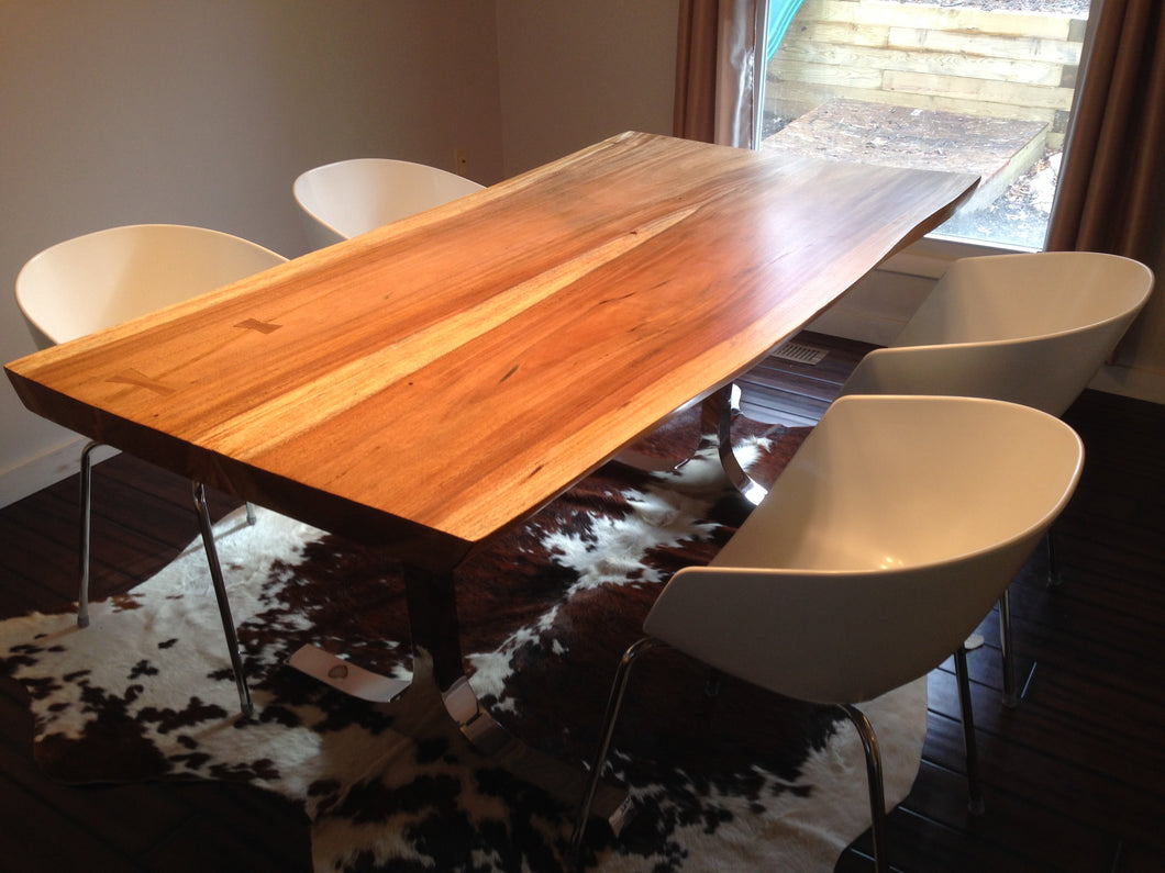 Solid Wood Mid Century Dining Table