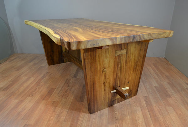 Live Edge Suar Wood Slab Dining Table R Home Furniture