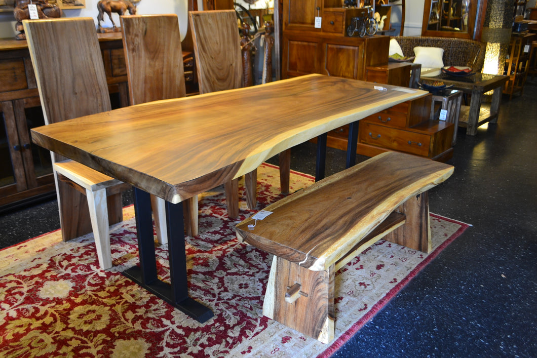 Live Edge Dining Table with Pi Base