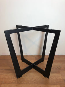 Square metal accent table base
