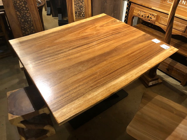 Acacia Live Edge Square Dining Table