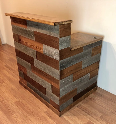 Custom reception desk counter or hostess stand