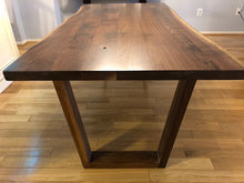 Live Edge Walnut Wood Top with Trapezoid Base