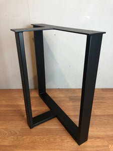 Trisquare metal dining table base