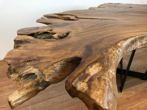 Reclaimed Live Edge Teak Wood Natural Slab Coffee Table