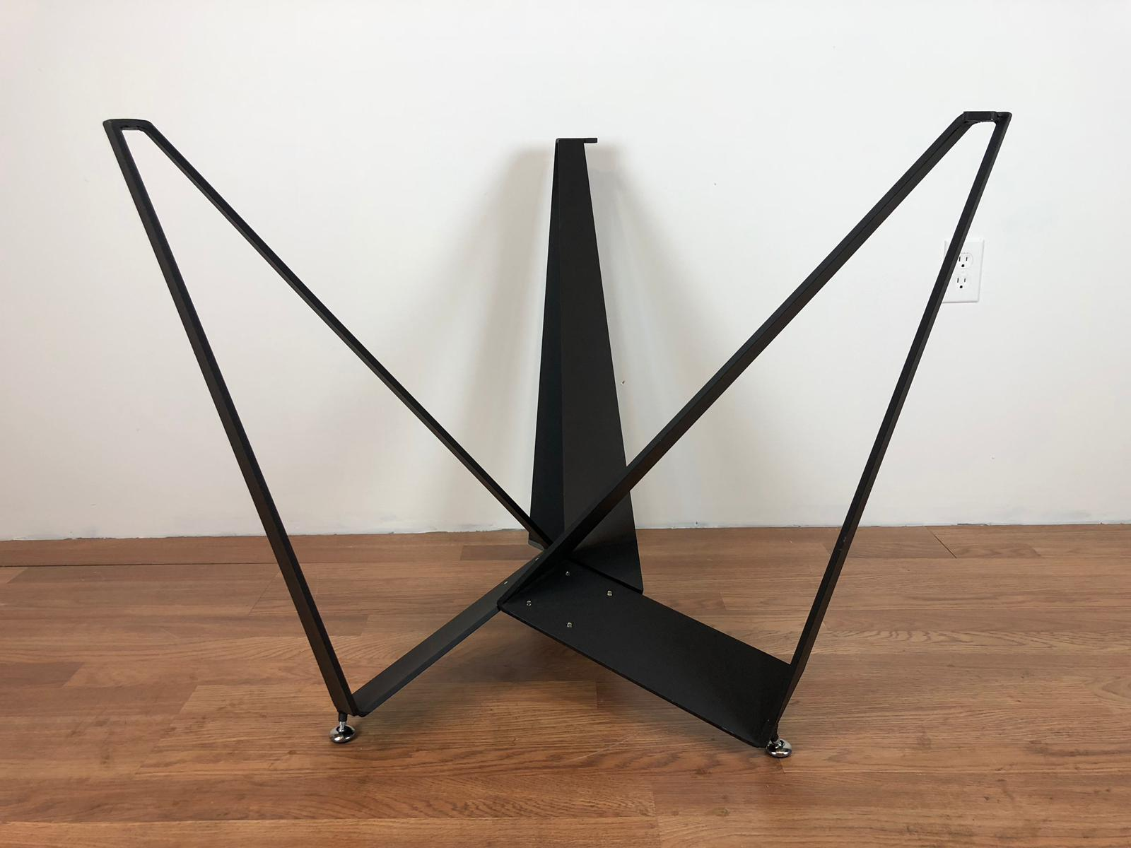 Triangle Metal Base for Round Top