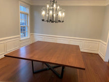 "Cherry wood dining table 80"" x 84"""