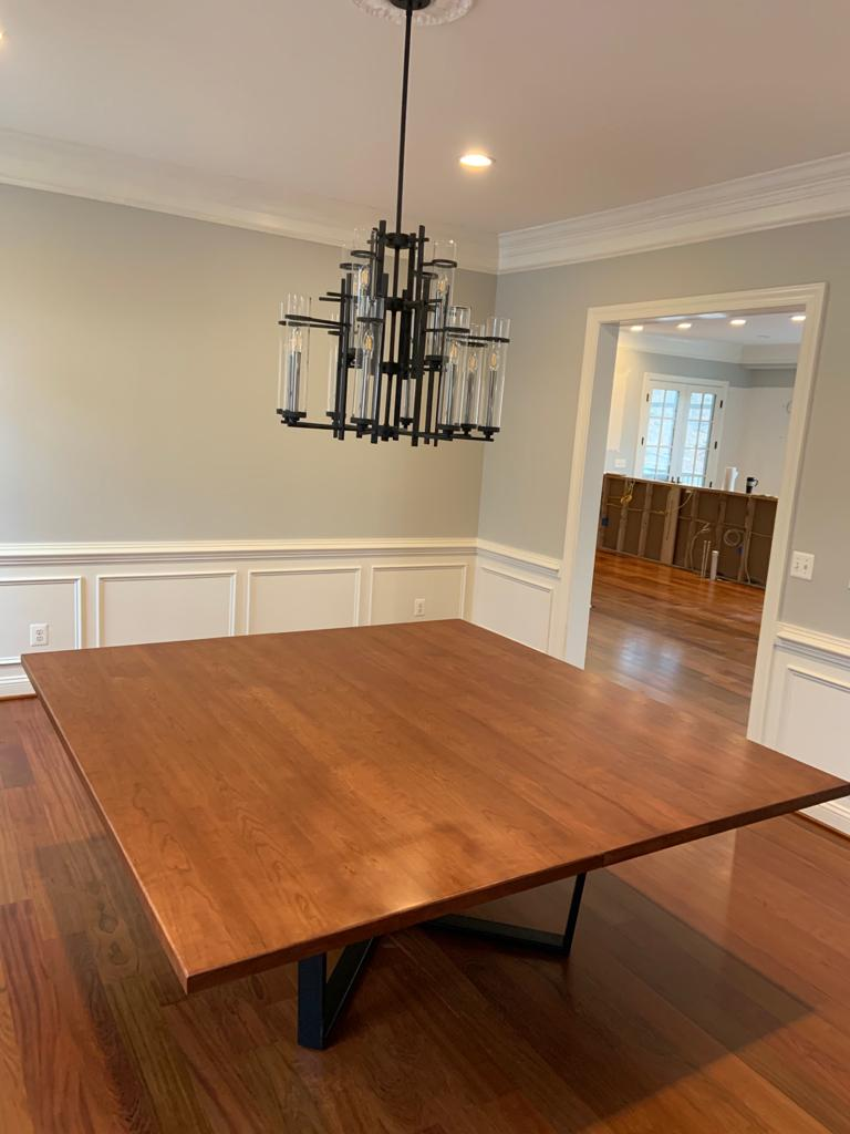 Cherry wood dining table 80