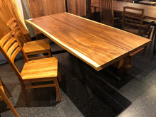 "Live edge acacia wood dining table 79"" x 38"""