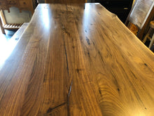 "American black walnut table 83"" x 41-43"" with mantis base"