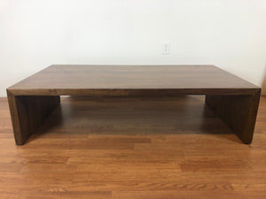 Walnut wood waterfall coffee table