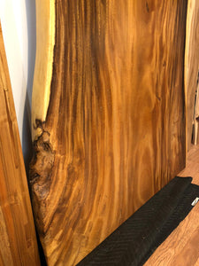 Stunning rare one piece solid acacia slab for table top
