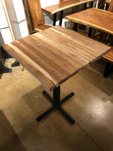 Reclaimed teak wood bar height (pub) table