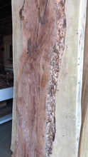 "Rustic live edge wood slab 86"" x 21-25-28"""