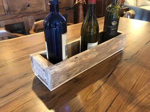 Rustic wine holder