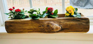 Rustic succulent planter box / flower pot