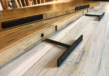 Rustic live edge solid teak wood floating shelf with hardware 47.25""