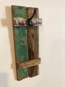 Reclaimed teak wood hanger