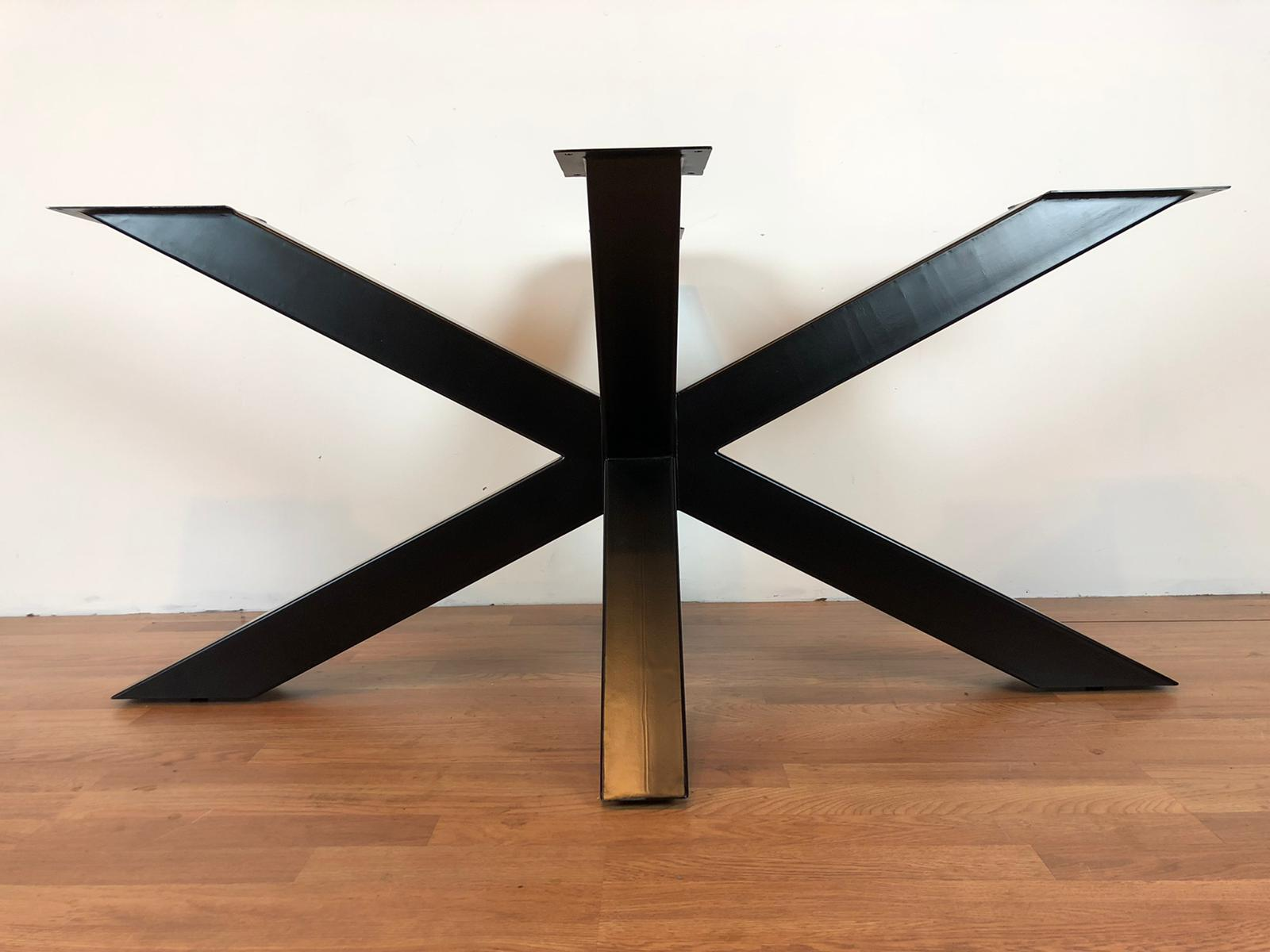 Palm metal dining table base 50