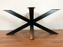 Palm metal dining table base 50""
