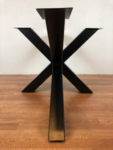 Palm metal dining table base 62""