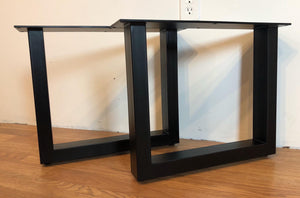 Square metal coffee table base