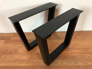 Trapezoid metal coffee table base