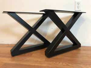 X metal coffee table base