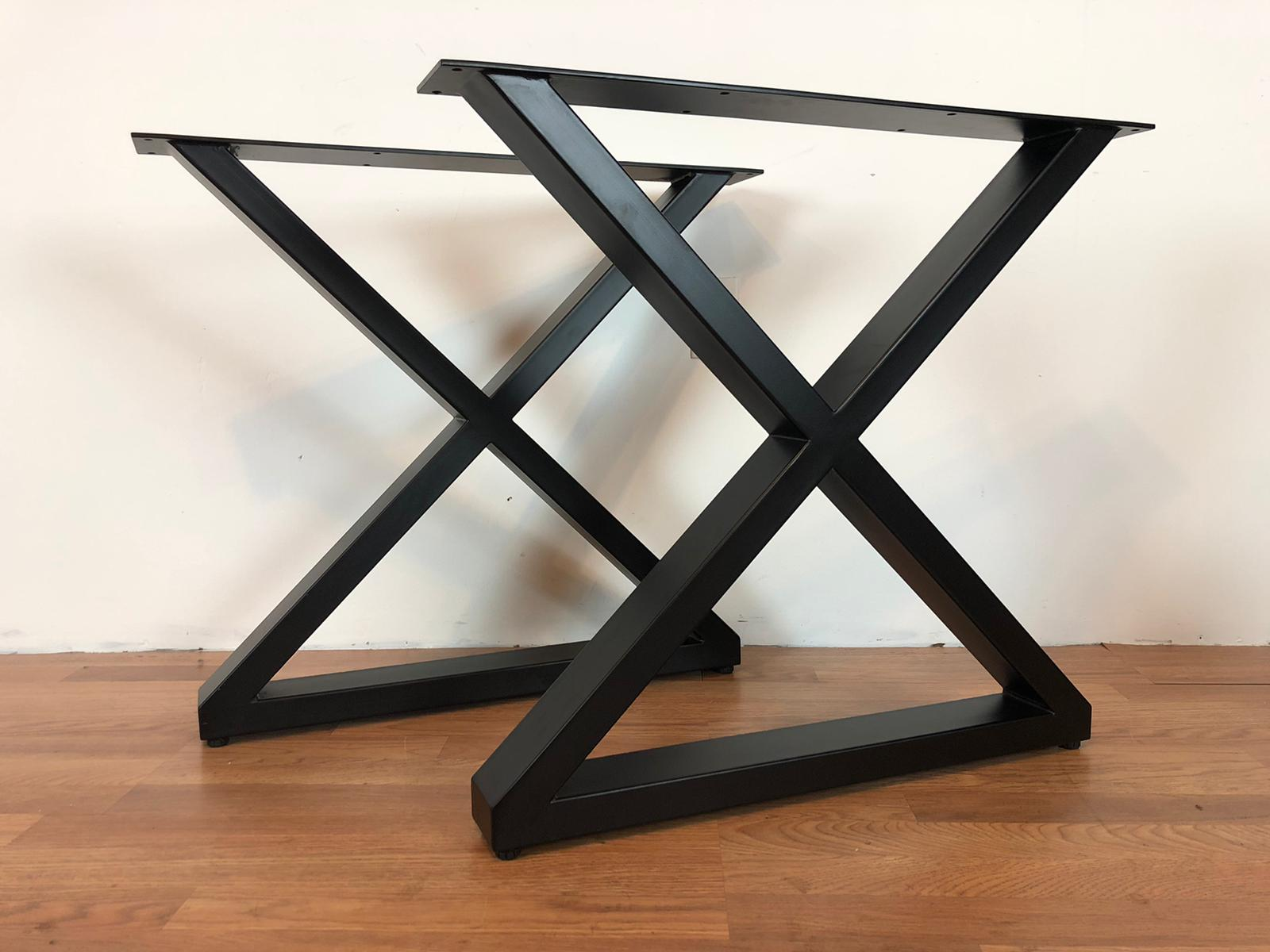 X metal dining table base 20