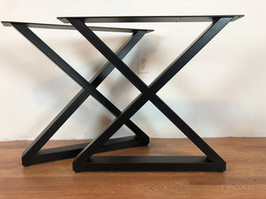 X metal dining table base 20""