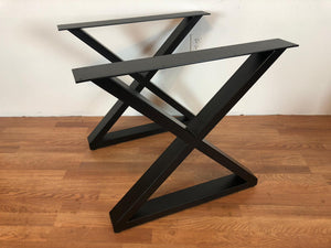 X metal desk base 20""