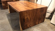 Waterfall coffee table acacia wood slab