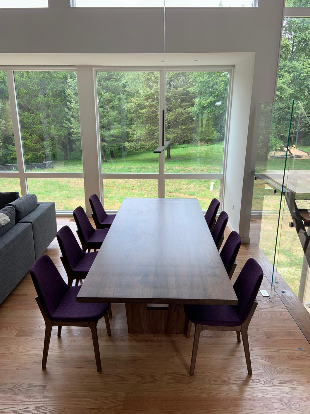 Walnut dining table 10 seater