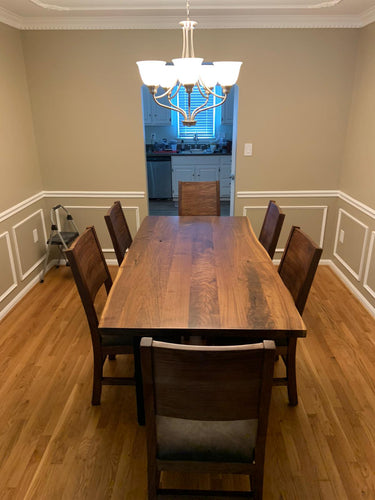Walnut dining table 6 seater